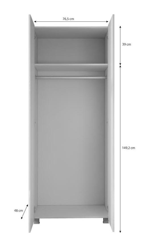 Szafa CALABRIA CL9 z drążkiem i półką