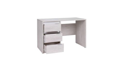 DV7 Biurko z szufladami DENVER białe otwarte