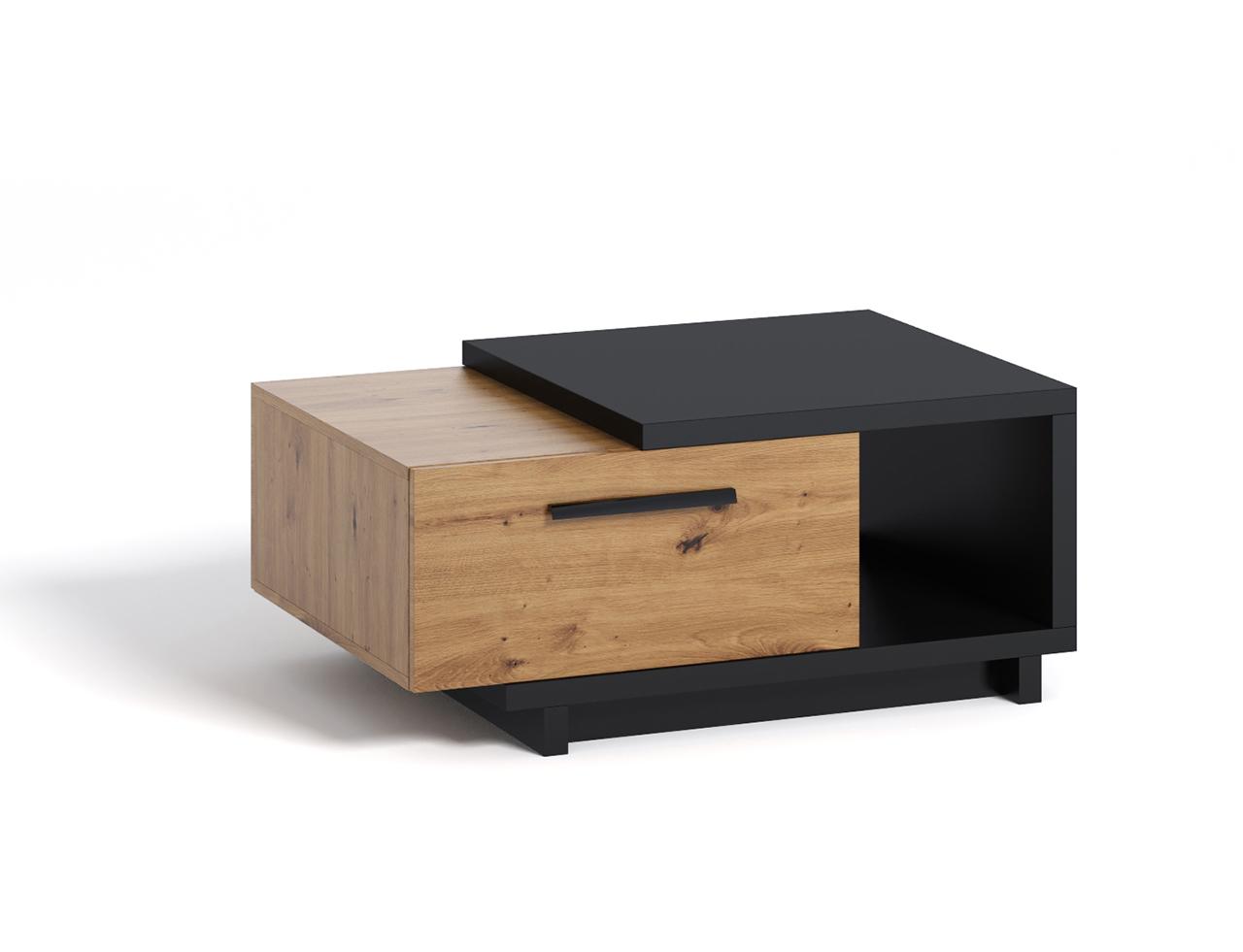Stolik kawowy INES IN9 z szufladą i półką