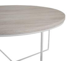 Stolik kawowy Loft BARI Dąb biały / Biały