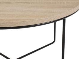 Stolik kawowy Loft BARI Sonoma / Czarny