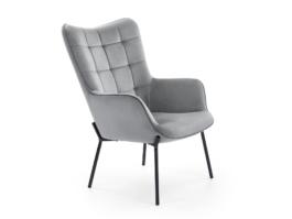 Fotel wypoczynkowy CASTEL popielaty