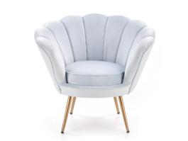Fotel muszelka AMARINO jasnoniebieski