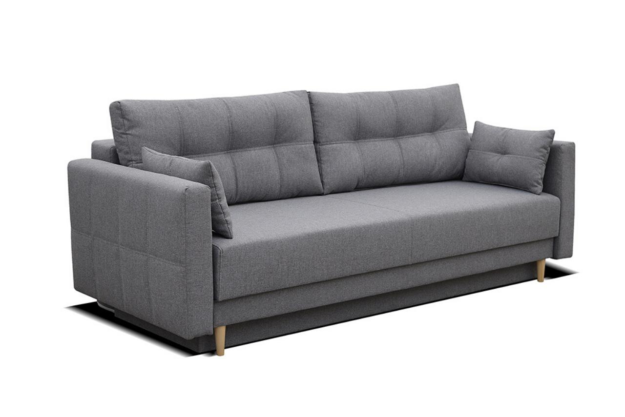 Skandynawska sofa LENA z funkcją spania i pojemnikiem na pościel