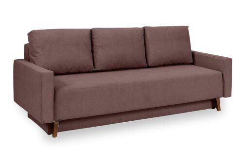 Skandynawska sofa OVIEDO z pojemnikiem na pościel i funkcją spania