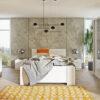 Zestaw mebli BONO 180 Biały łóżko, komoda, szafa, stoliki nocne