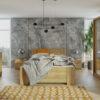 Zestaw mebli BONO 180 Dąb Złoty łóżko, komoda, szafa, stoliki nocne