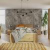 Zestaw mebli BONO 150 Dąb Artisan szafa 150 komoda łóżko stoliki nocne