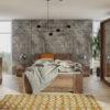 Zestaw mebli BONO 200 Dąb Monastery łóżko, komoda, szafa, stoliki nocne