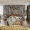 Zestaw mebli BONO 250 Dąb Monastery łóżko, komoda, szafa, stoliki nocne