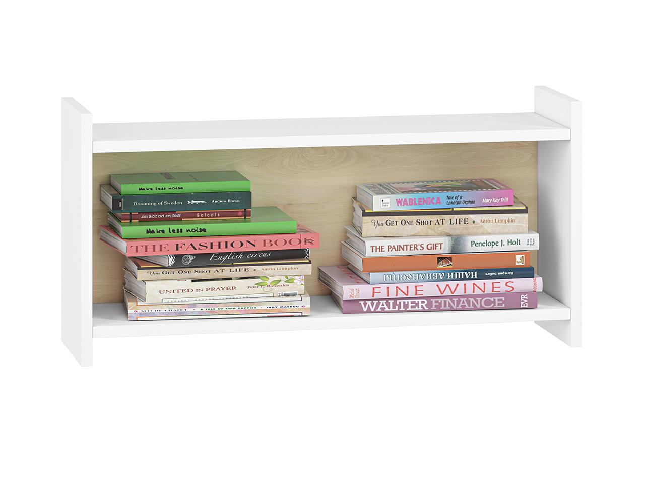 Półka CESAR CS16 ELMO do pokoju dziecięcego biała na zabawki i książki
