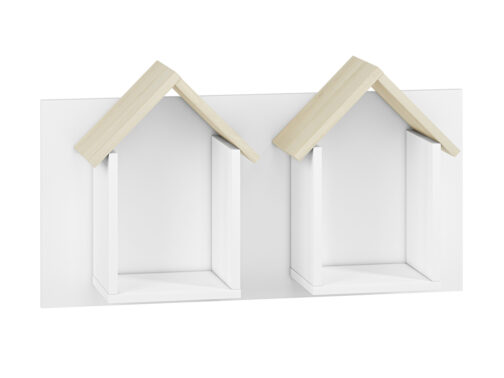 Półka CESAR CS17 ELMO wisząca w kształcie domku podwójna
