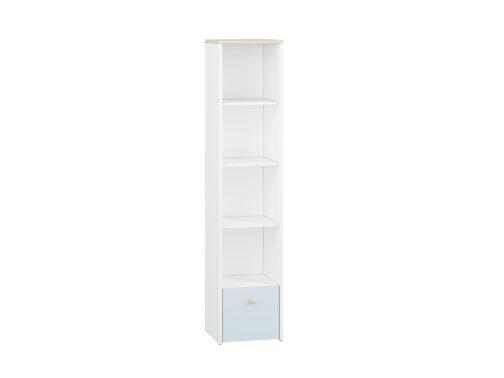 Regał CESAR CS05 ELMO biały z otwartymi półkami i szufladą
