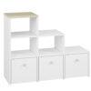 Regał CESAR CS12 ELMO schodkowy do pokoju dziecięcego z wysuwanymi szufladami i otwartymi półkami
