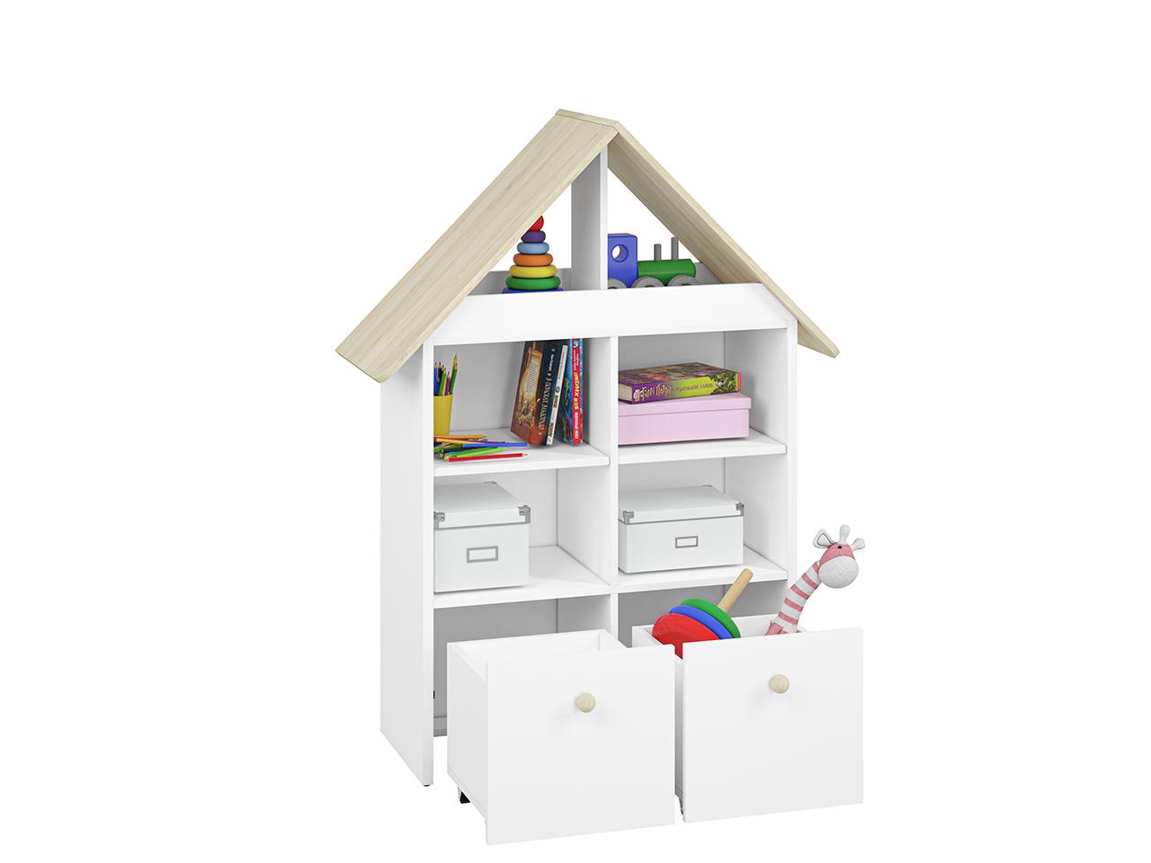 Regał CESAR CS13 ELMO domek na zabawki z wysuwanymi szufladami i półkami