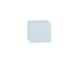 Fronty (2 szt.) CESAR 20-002 błękit krystaliczny