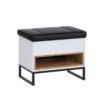 Kufer OLIER OL3 dąb artisan w industrialnym stylu drewno metal