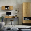 Zestaw mebli OLIER 3 w stylu industrialnym drewno metal