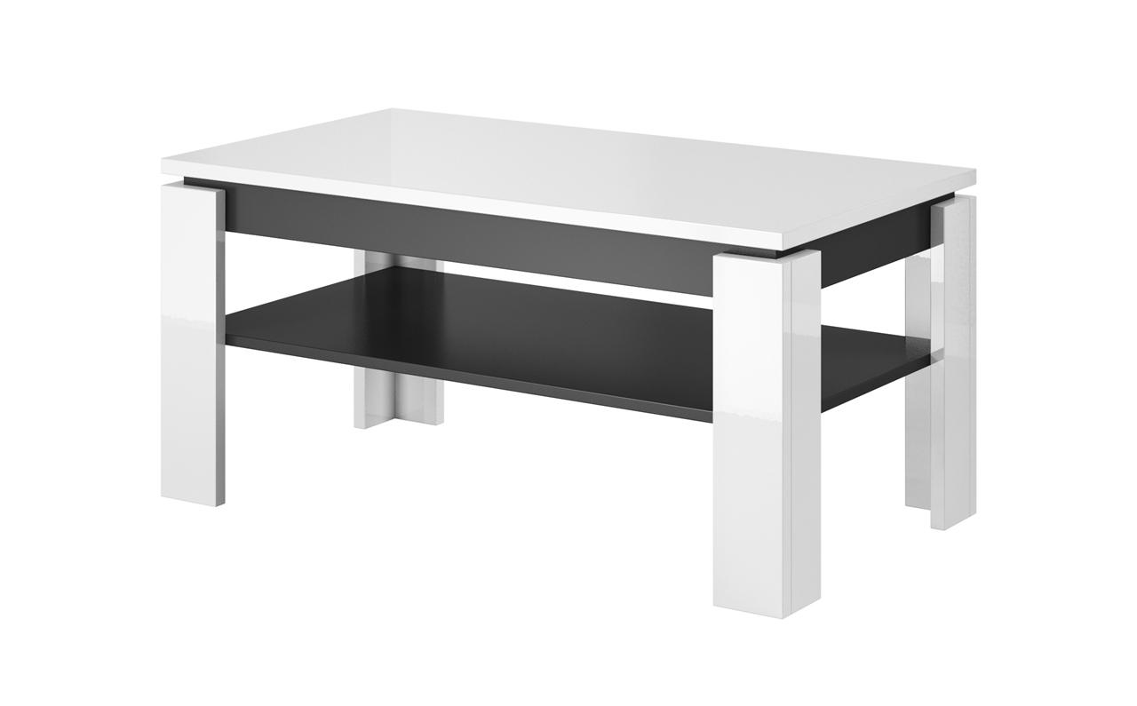 Ława TORO stolik kawowy Biały połysk / Grafit