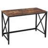 Industrialne biurko LOFT drewno metal XLWD21BX VASAGLE