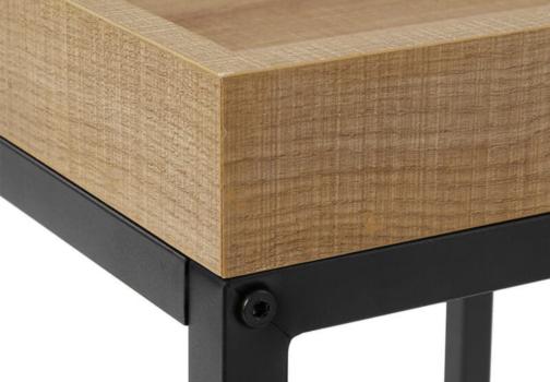 Zestaw 2 stolików industrialnych VASAGLE drewno metal HONEY BROWN