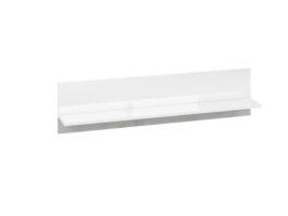 Półka LORA LA11 biały połysk / beton