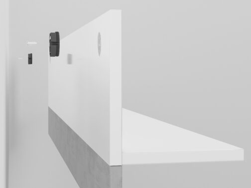 Półka LORA LA11 LUMENS 11 - biały połysk + beton srebrny ML MEBLE