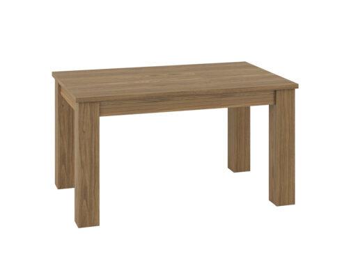 Stół rozkładany ORLANDO OR15 DALLAS - orzech naturalny i biały połysk - ML MEBLE - 3 wersje szerokości: 101 / 141 / 181 cm
