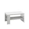 Stolik kawowy LORA LA10 LUMENS 10 z półką pod blatem - biały połysk + beton srebrny ML MEBLE