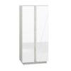Szafa LORA LA01 LUMENS - biały połysk + beton srebrny ML MEBLE