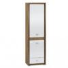 Szafa ORLANDO OR02 DALLAS z półkami i szufladą orzech naturalny / biały połysk