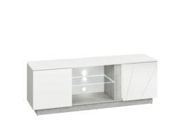 Szafka RTV LORA LA09 biały połysk / beton