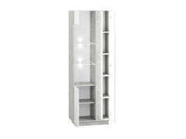 Witryna LORA LA03L biały połysk / beton