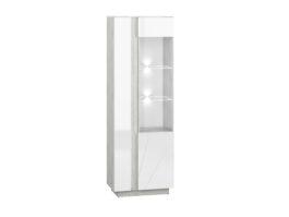 Witryna LORA LA03P biały połysk / beton