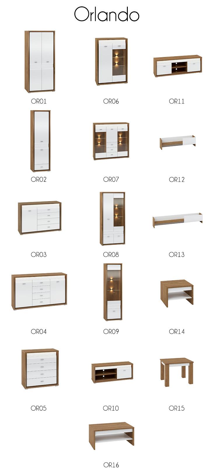Kolekcja mebli ORLANDO DALLAS
