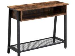 Industrialna konsola stolik do salonu z półką VASAGLE