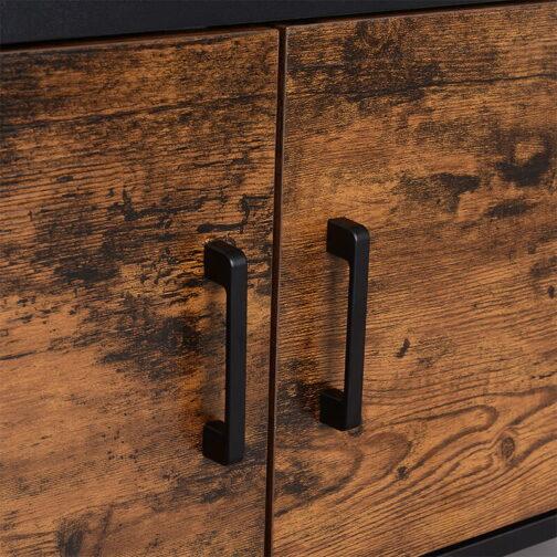 Industrialna szafka na buty rustykalny brąz LOFT LHS051B01
