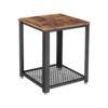 Industrialny stolik kawowy rustykalny brąz LOFT VASAGLE LET41X