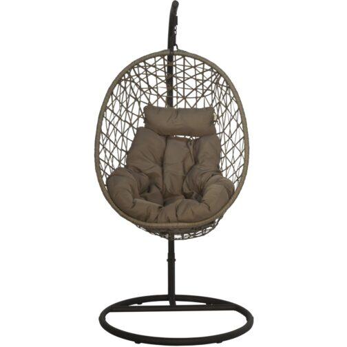 Huśtawka fotel bujany wiszący kokon Luxe antracyt beż