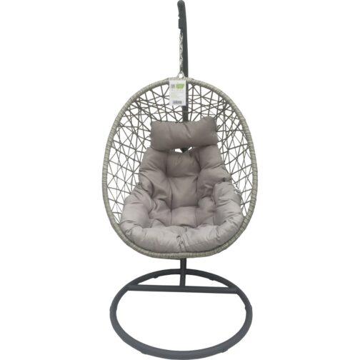 Huśtawka fotel bujany wiszący kokon Luxe szary