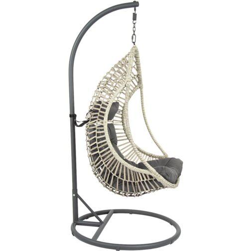 Huśtawka fotel wiszący kokon Crescent Delux szary