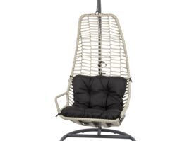 Huśtawka fotel wiszący kokon Slack czarny szary