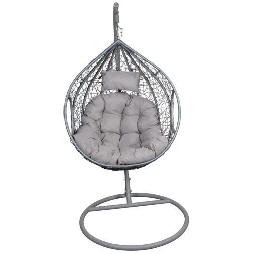 Fotel bujany Cocoon roz.L z technorattanu szary