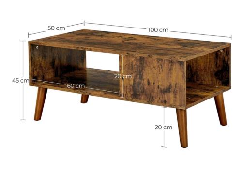 Industrialny stolik kawowy retro VASAGLE LCT09BX