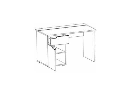 Biurko SELENE 14 1-drzwiowe z szufladą biały połysk SZYNAKA MEBLE