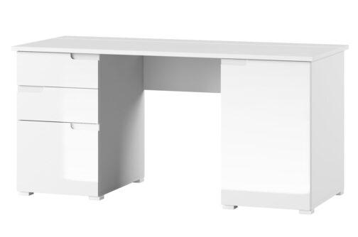 Biurko SELENE 15 2-drzwiowe z szufladami biały połysk SZYNAKA MEBLE