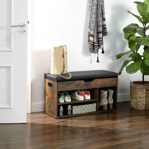 Industrialna szafka na buty z miękkim siedziskiem ławka vintage LHS30BX