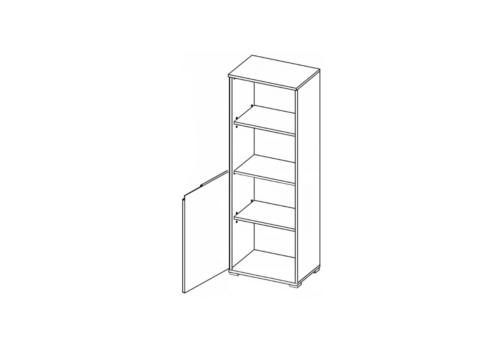 Regał SELENE 10 SN08 1-drzwiowy biały połysk SZYNAKA MEBLE