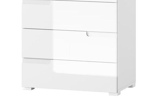 Komoda SELENE 03 z szufladami biały połysk SZYNAKA MEBLE