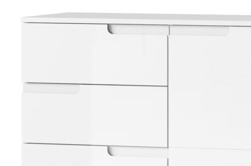 Komoda SELENE 7 2-drzwiowa z 2 szufladami biały połysk SZYNAKA MEBLE